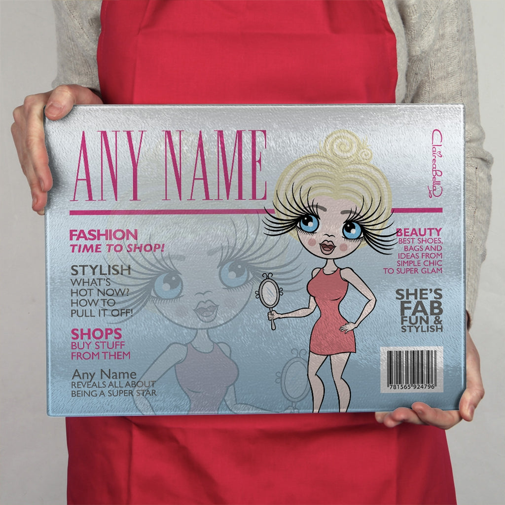 ClaireaBella Landscape Glass Chopping Board - Cover Girl - Image 3