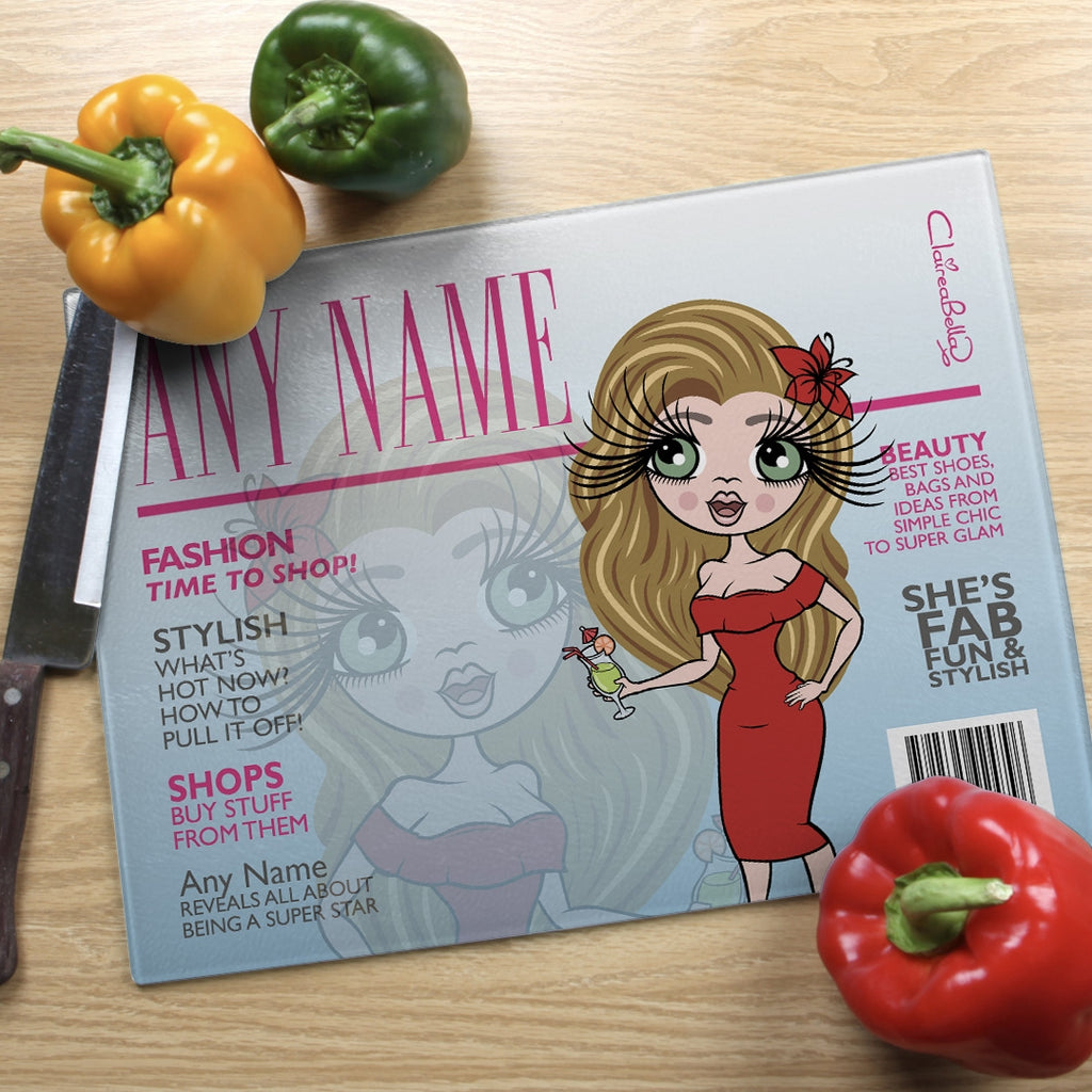 ClaireaBella Landscape Glass Chopping Board - Cover Girl - Image 4