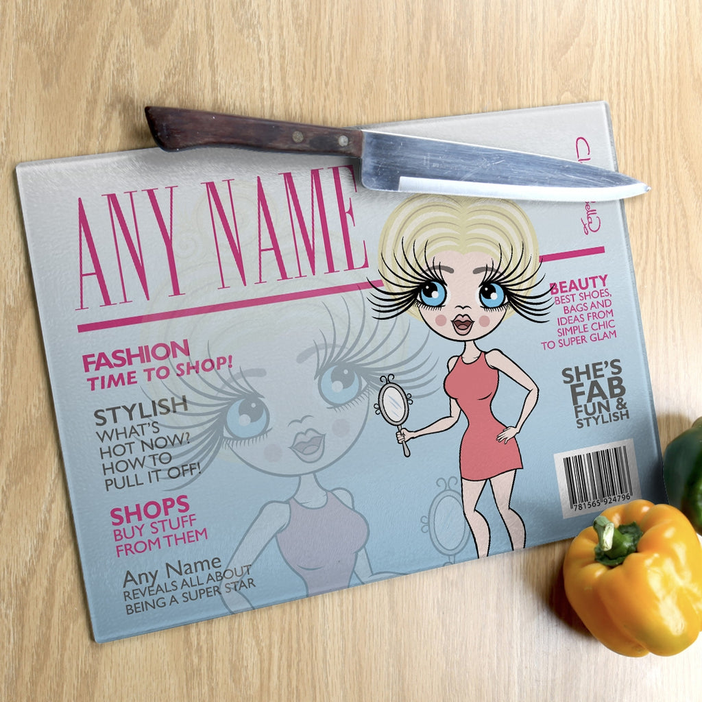 ClaireaBella Landscape Glass Chopping Board - Cover Girl - Image 6