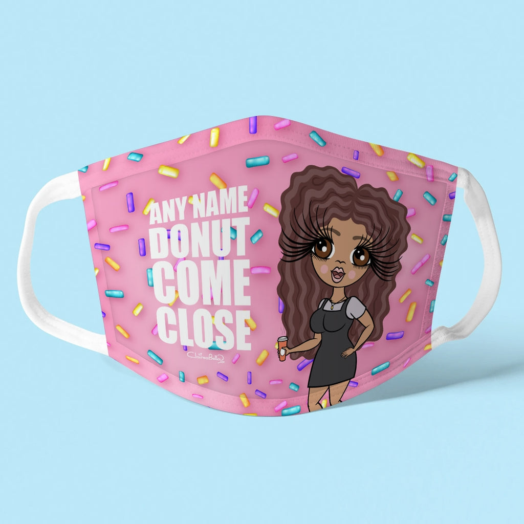 ClaireaBella Personalised Donut Reusable Face Covering - Image 1