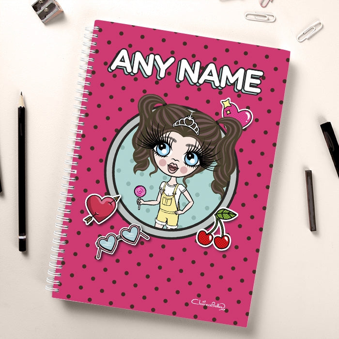 ClaireaBella Girls Dotty Notebook - Image 1