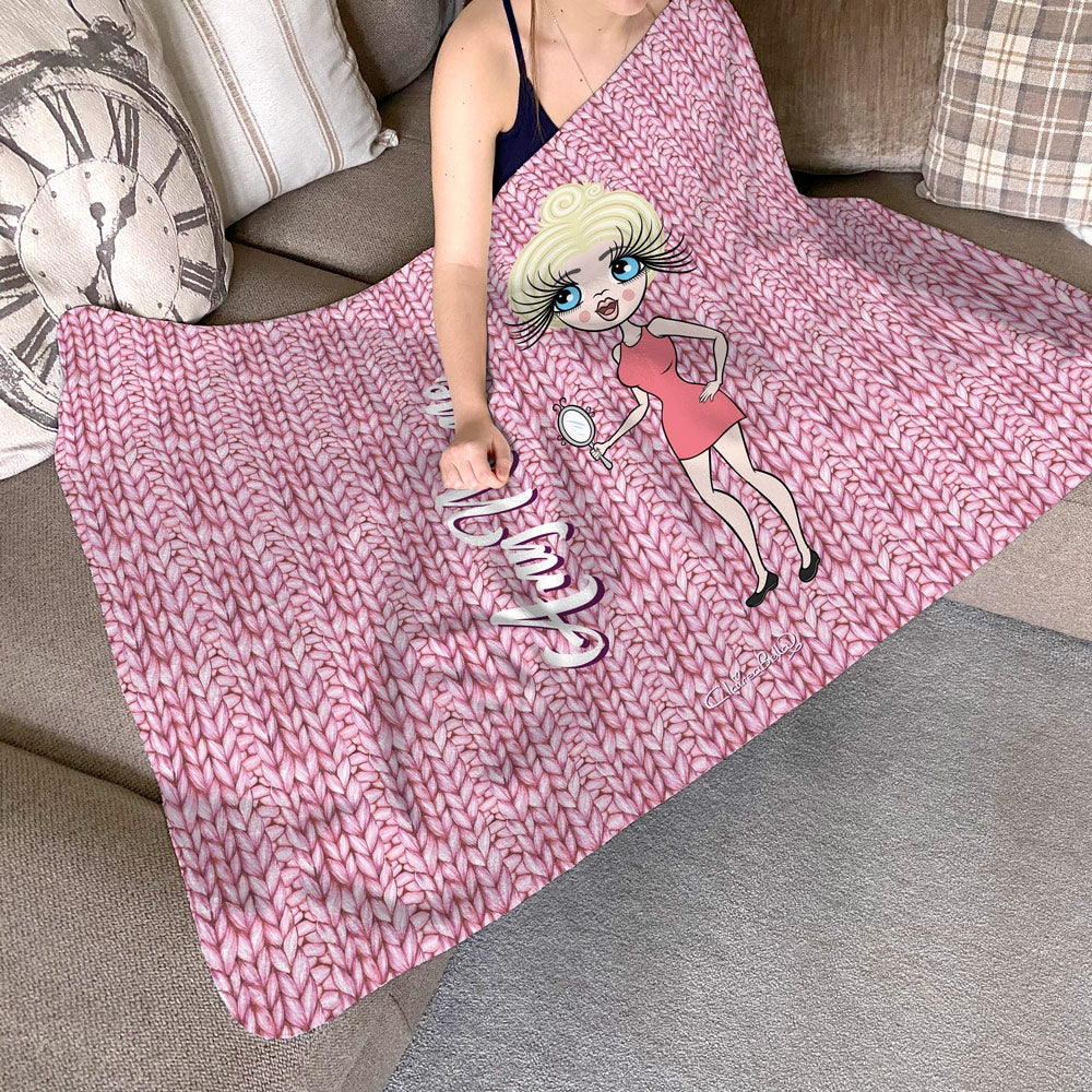 ClaireaBella Wool Effect Fleece Blanket - Image 1