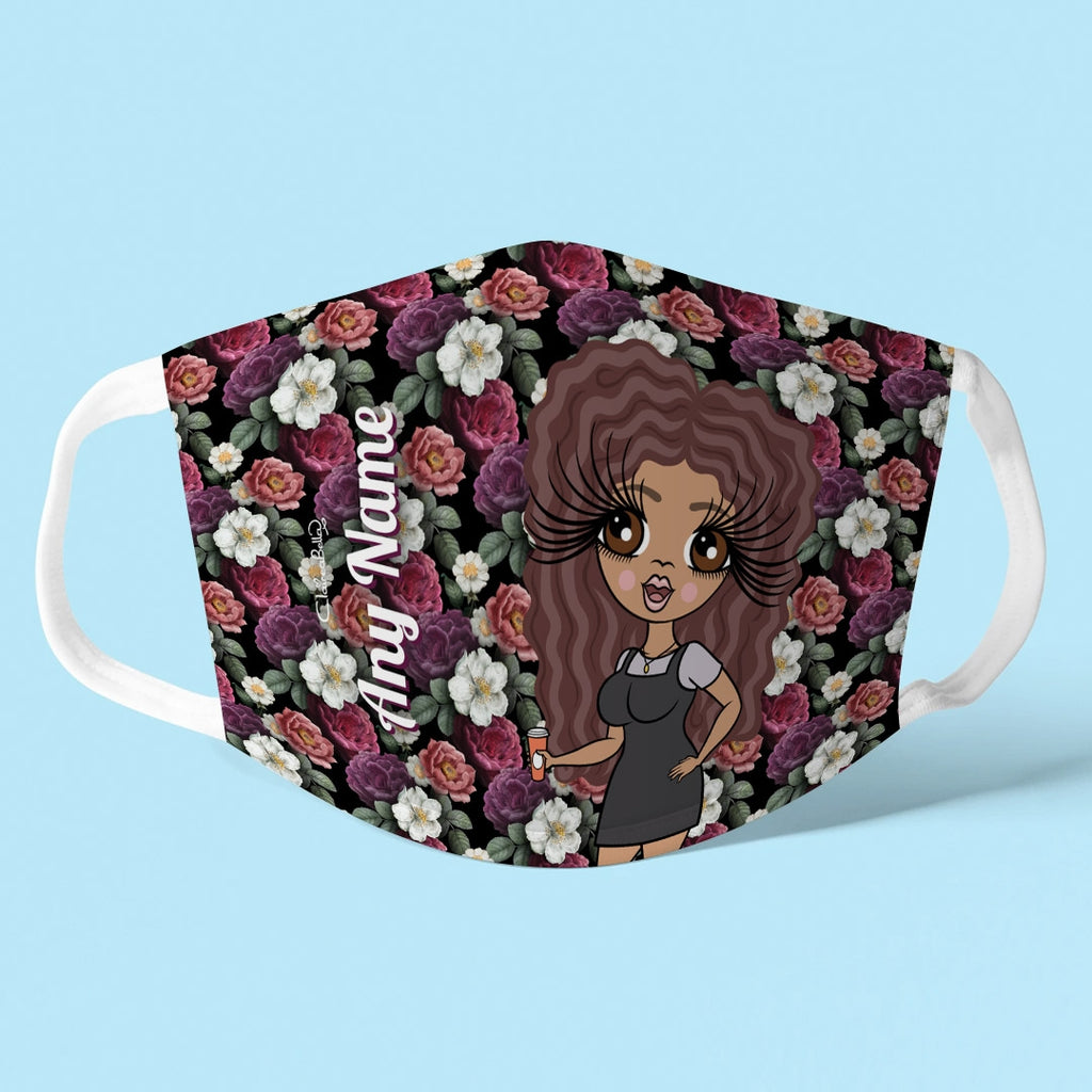 ClaireaBella Personalised Floral Reusable Face Covering - Image 1