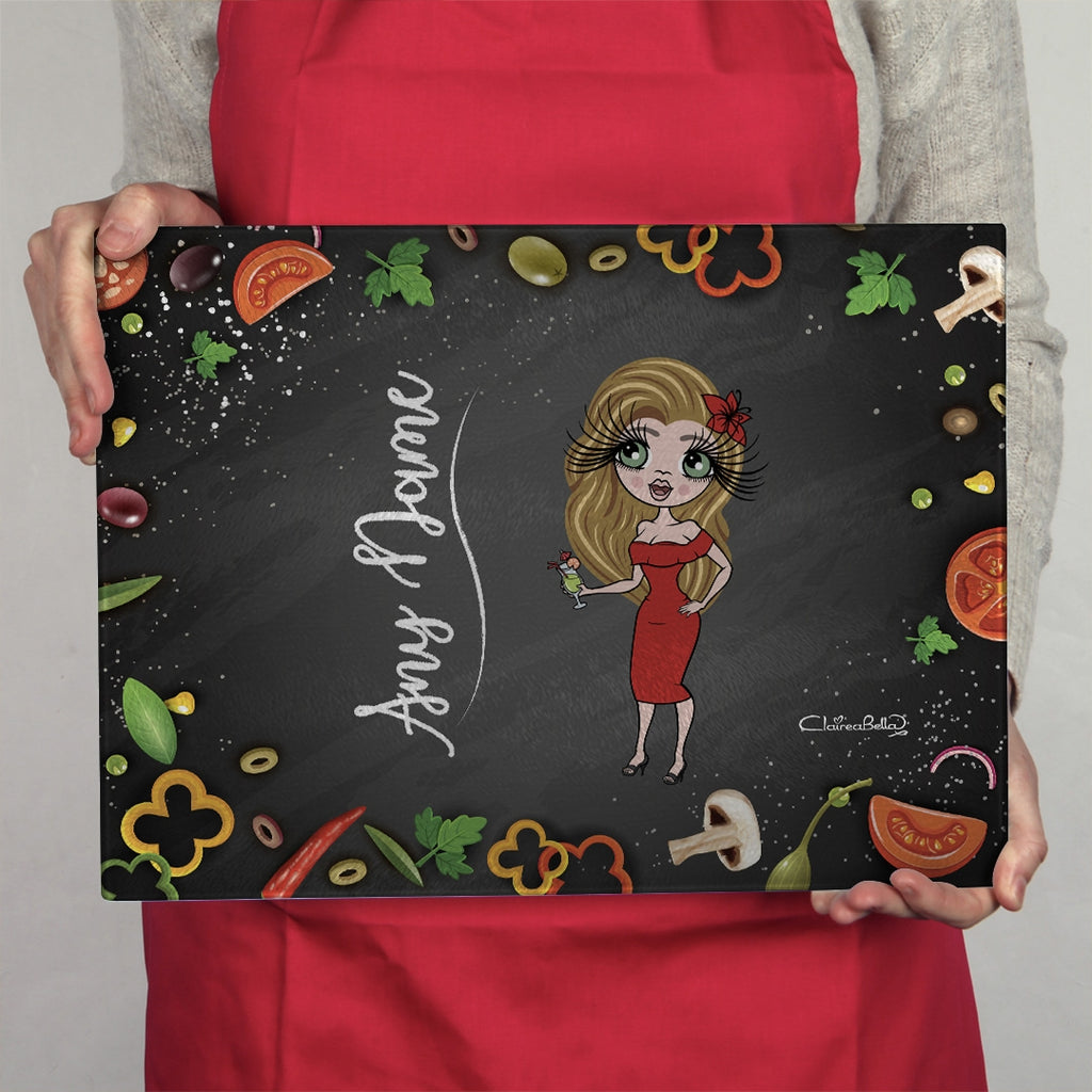 ClaireaBella Landscape Glass Chopping Board - Foodie Fun - Image 1