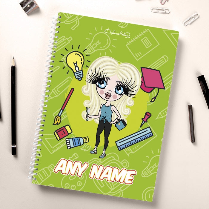 ClaireaBella Girls Essentials Green Notebook - Image 1