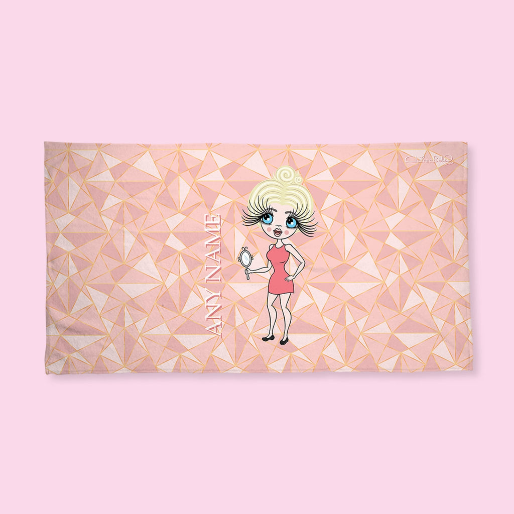 ClaireaBella Geo Print Hand Towel - Image 1