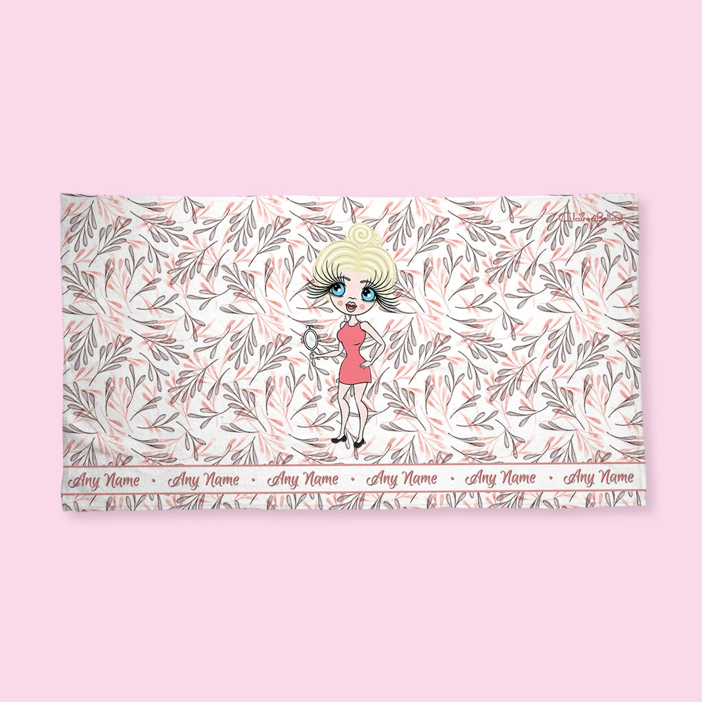 ClaireaBella Leaf Print Hand Towel - Image 1
