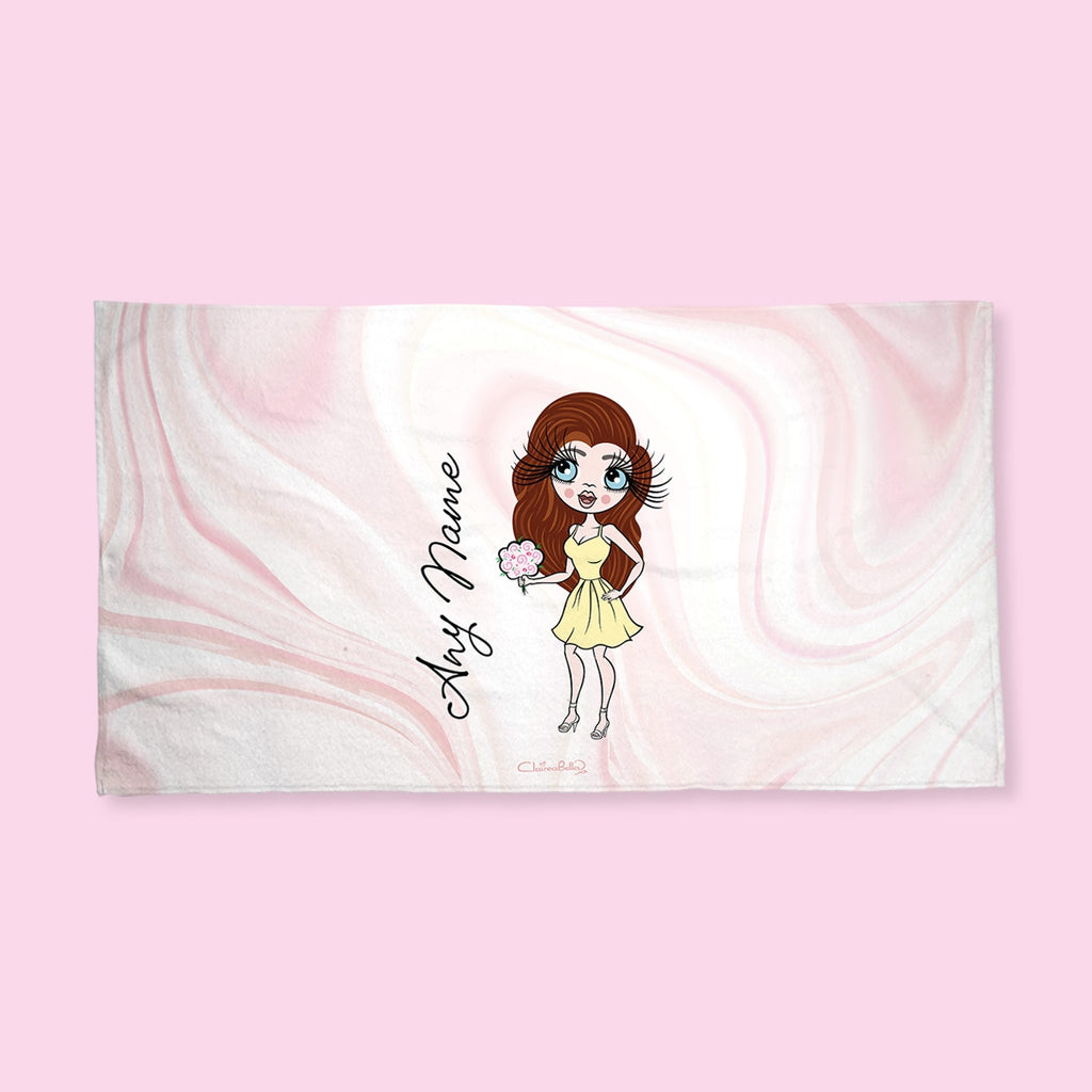 ClaireaBella Marble Print Hand Towel - Image 1