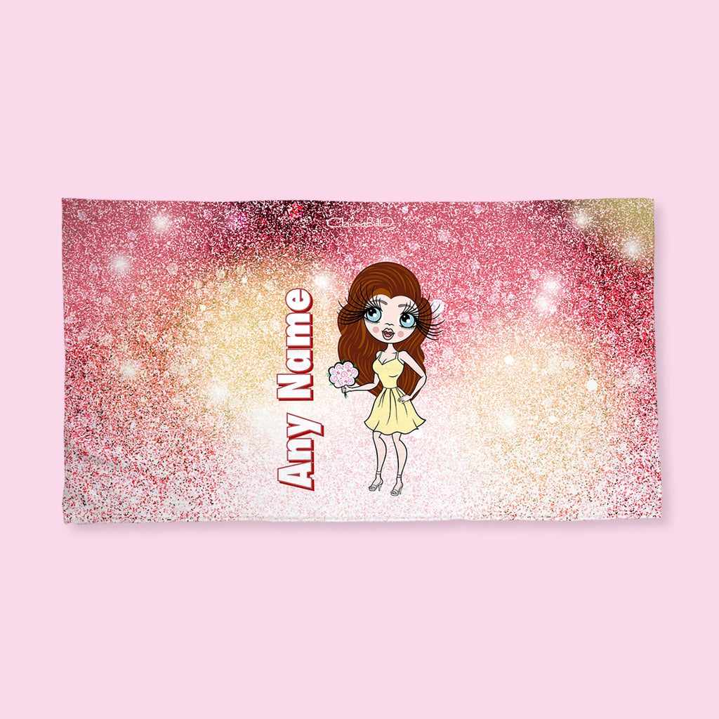 ClaireaBella Ombre Glitter Hand Towel - Image 1