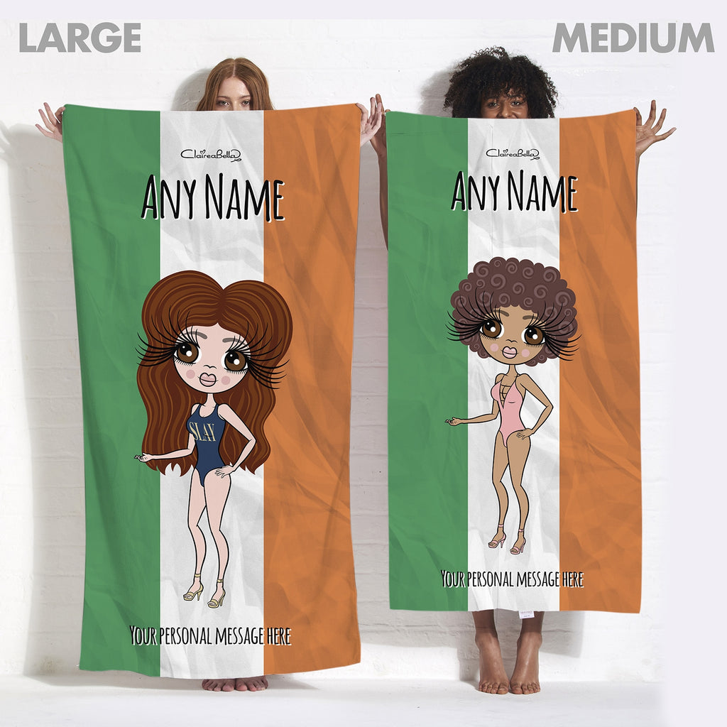 ClaireaBella Irish Flag Beach Towel - Image 4