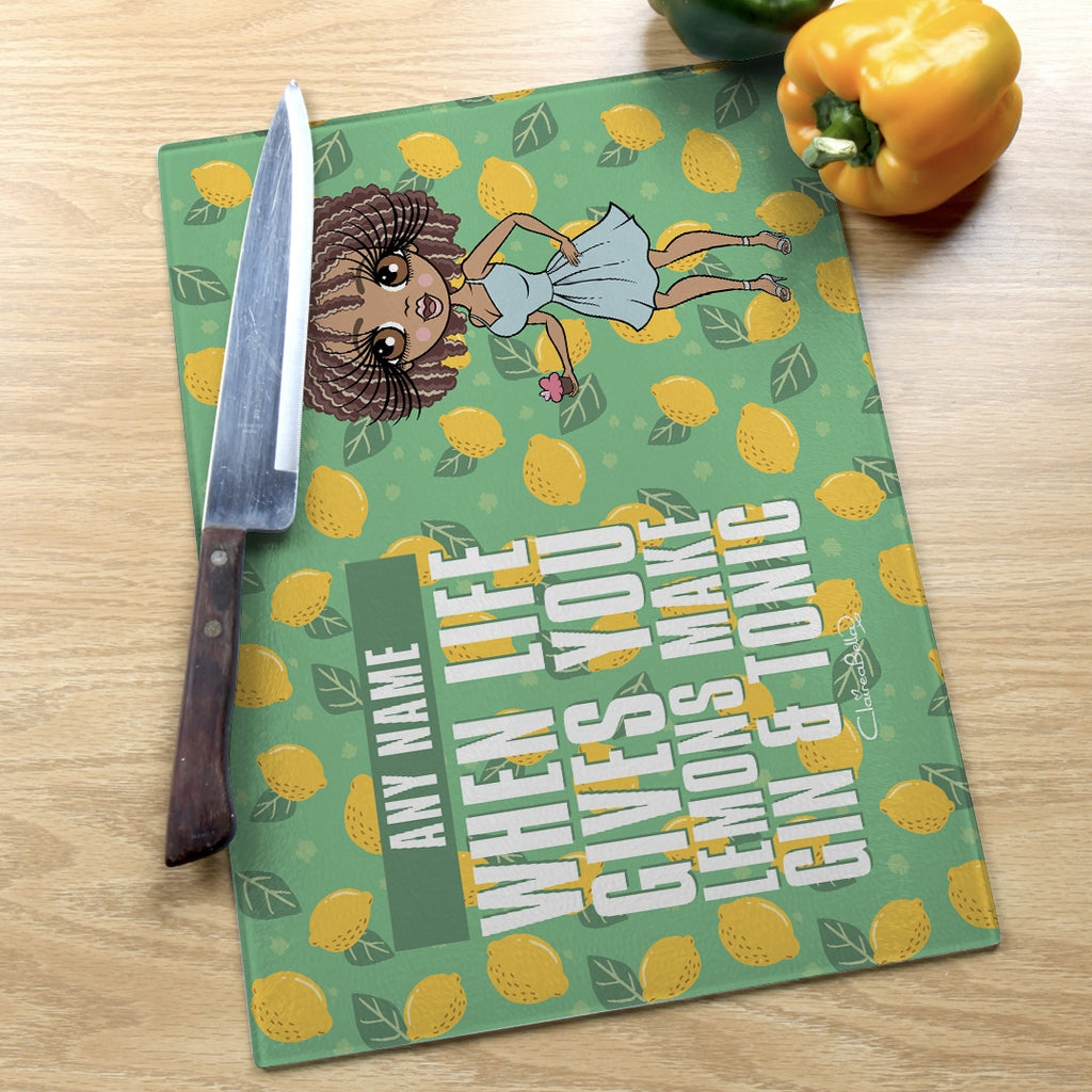 ClaireaBella Landscape Glass Chopping Board - Lemons - Image 5