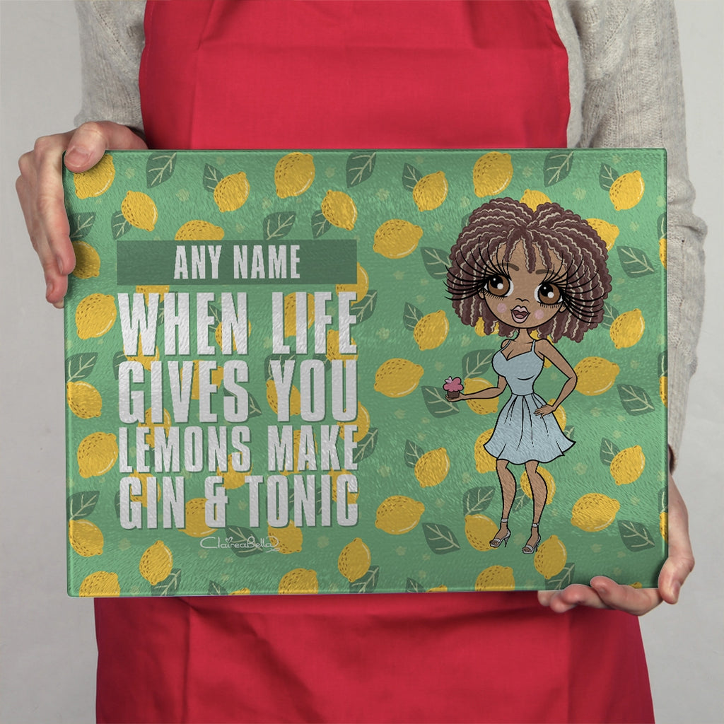 ClaireaBella Landscape Glass Chopping Board - Lemons - Image 3