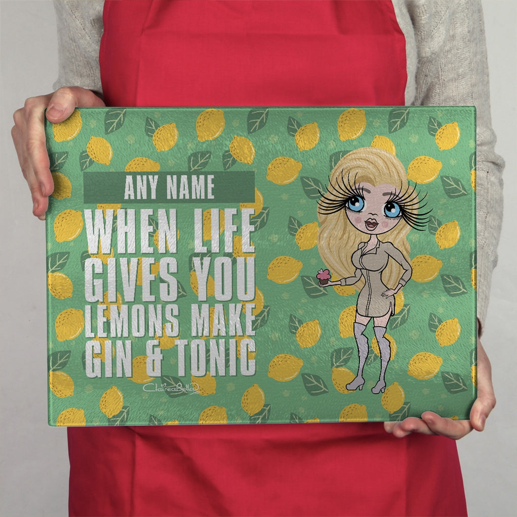 ClaireaBella Landscape Glass Chopping Board - Lemons - Image 4