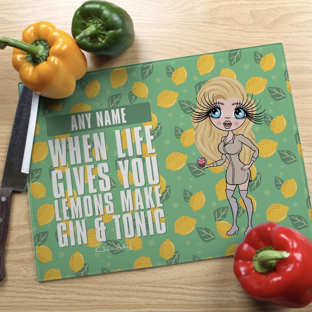 ClaireaBella Landscape Glass Chopping Board - Lemons - Image 2