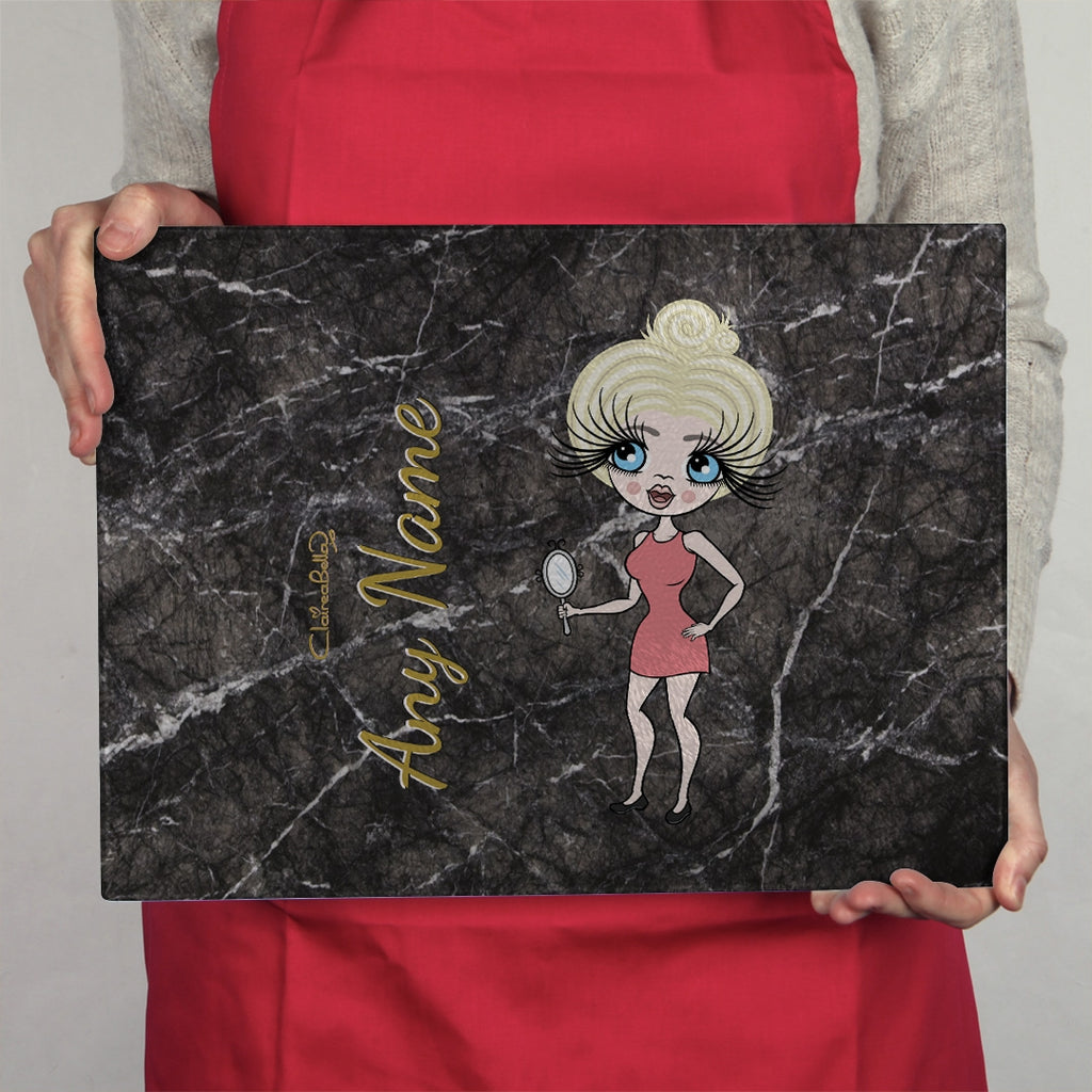 ClaireaBella Landscape Glass Chopping Board - Marble Effect - Image 2