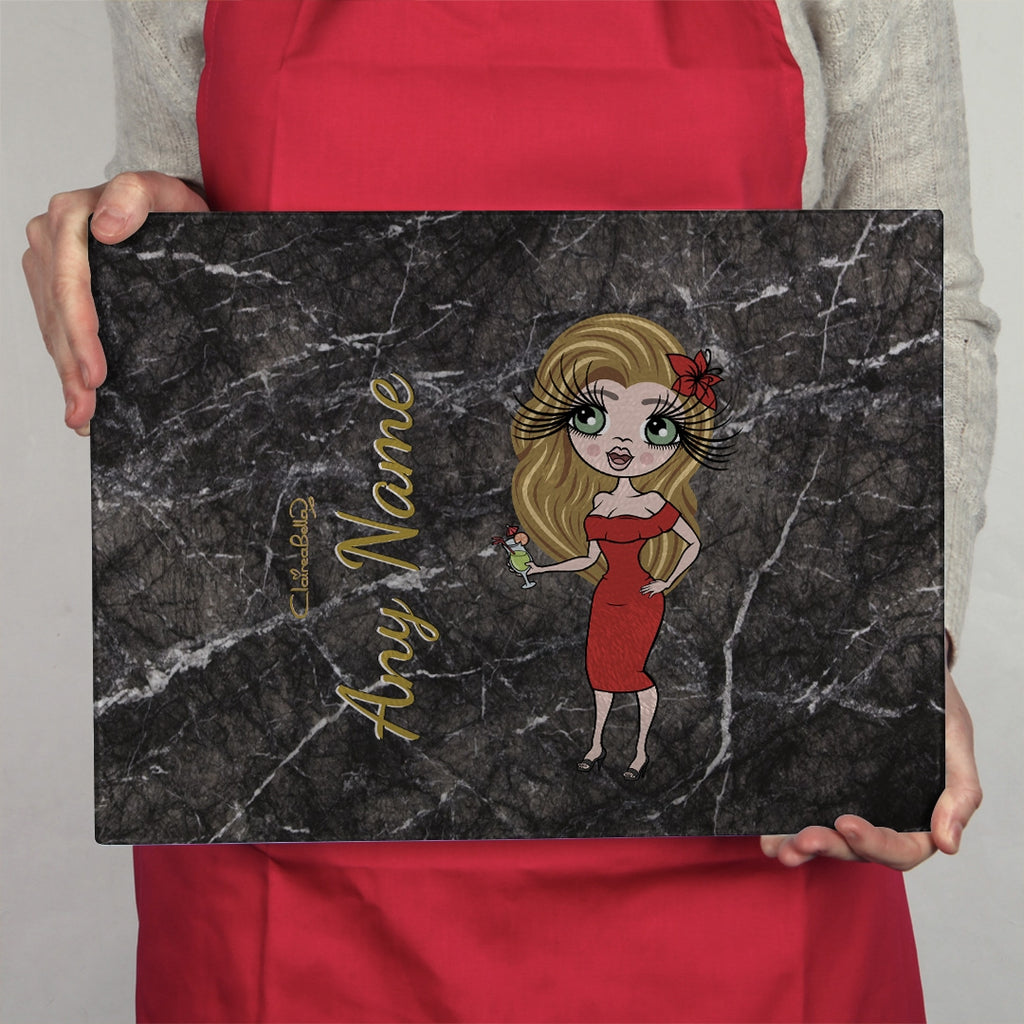 ClaireaBella Landscape Glass Chopping Board - Marble Effect - Image 3