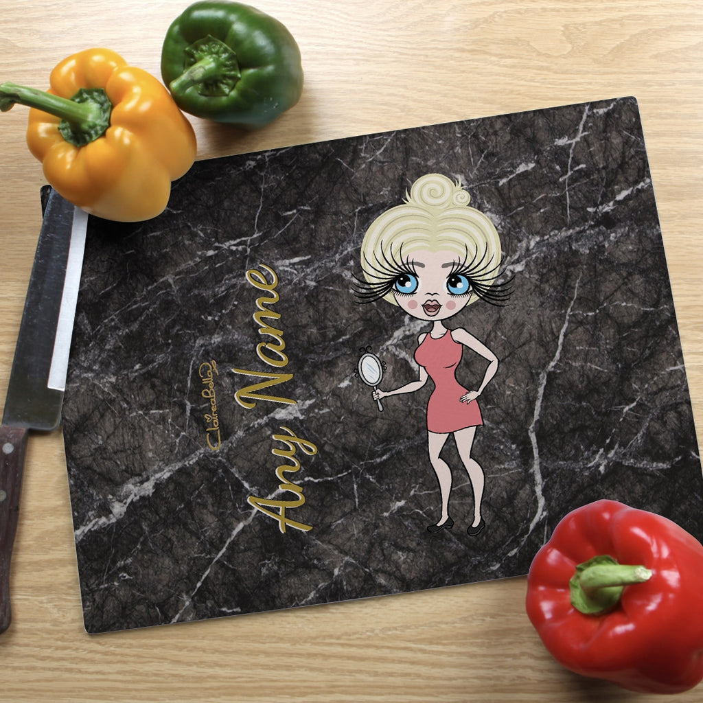 ClaireaBella Landscape Glass Chopping Board - Marble Effect - Image 4