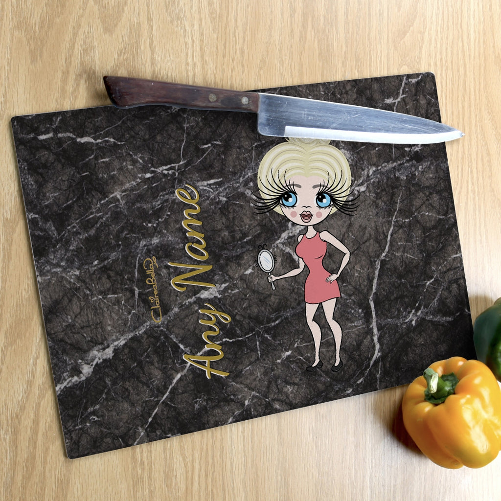 ClaireaBella Landscape Glass Chopping Board - Marble Effect - Image 6