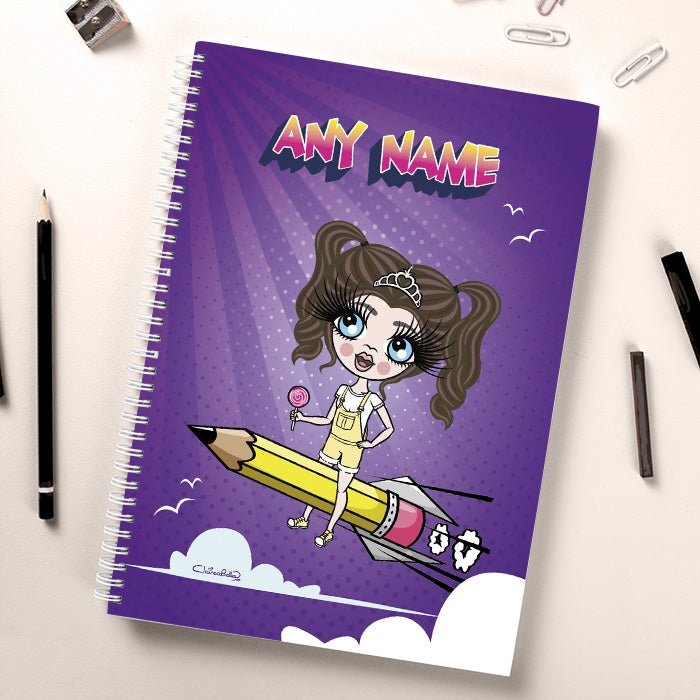 ClaireaBella Girls Rocket Pencil Notebook - Image 1