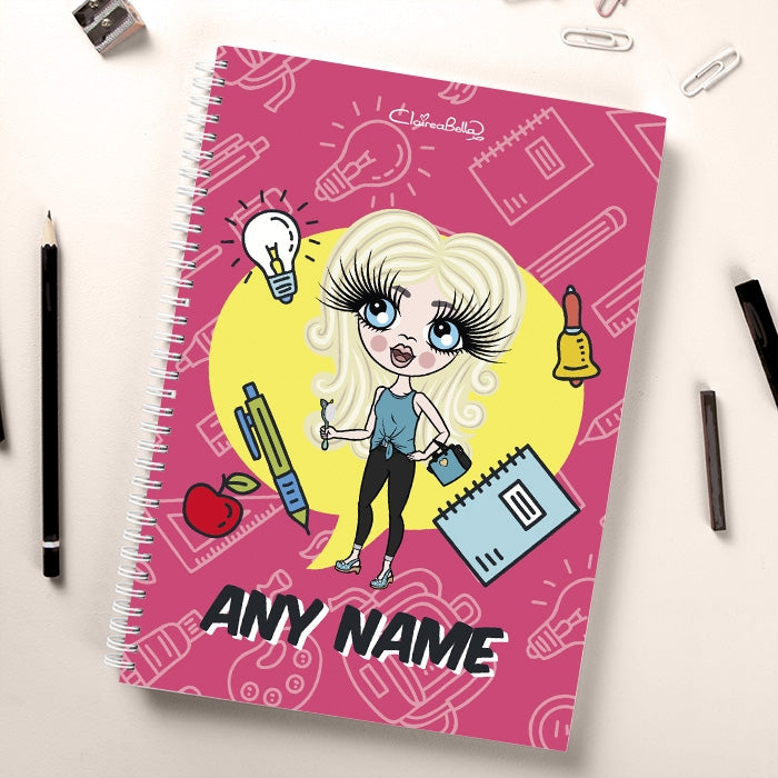 ClaireaBella Girls Essentials Pink Notebook - Image 1