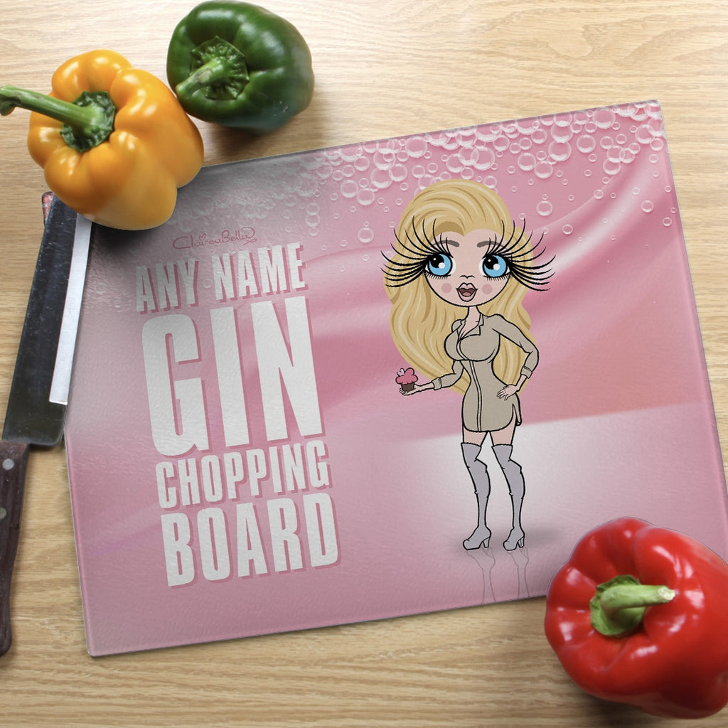 ClaireaBella Landscape Glass Chopping Board - Pink Gin - Image 1