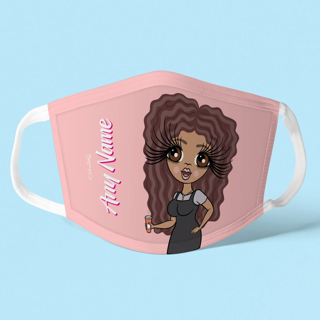 ClaireaBella Personalised Blush Reusable Face Covering - Image 1