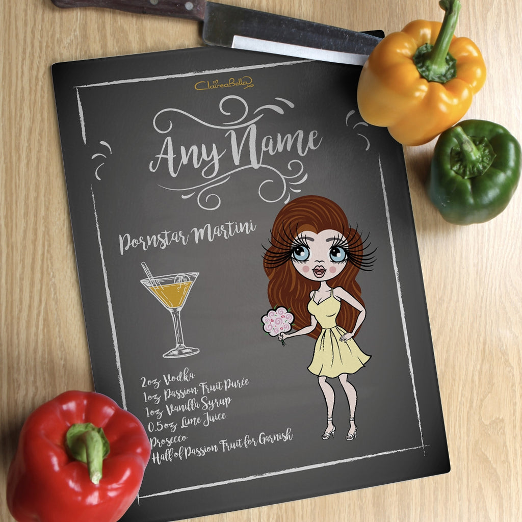 ClaireaBella Glass Chopping Board - Pornstar Martini - Image 1