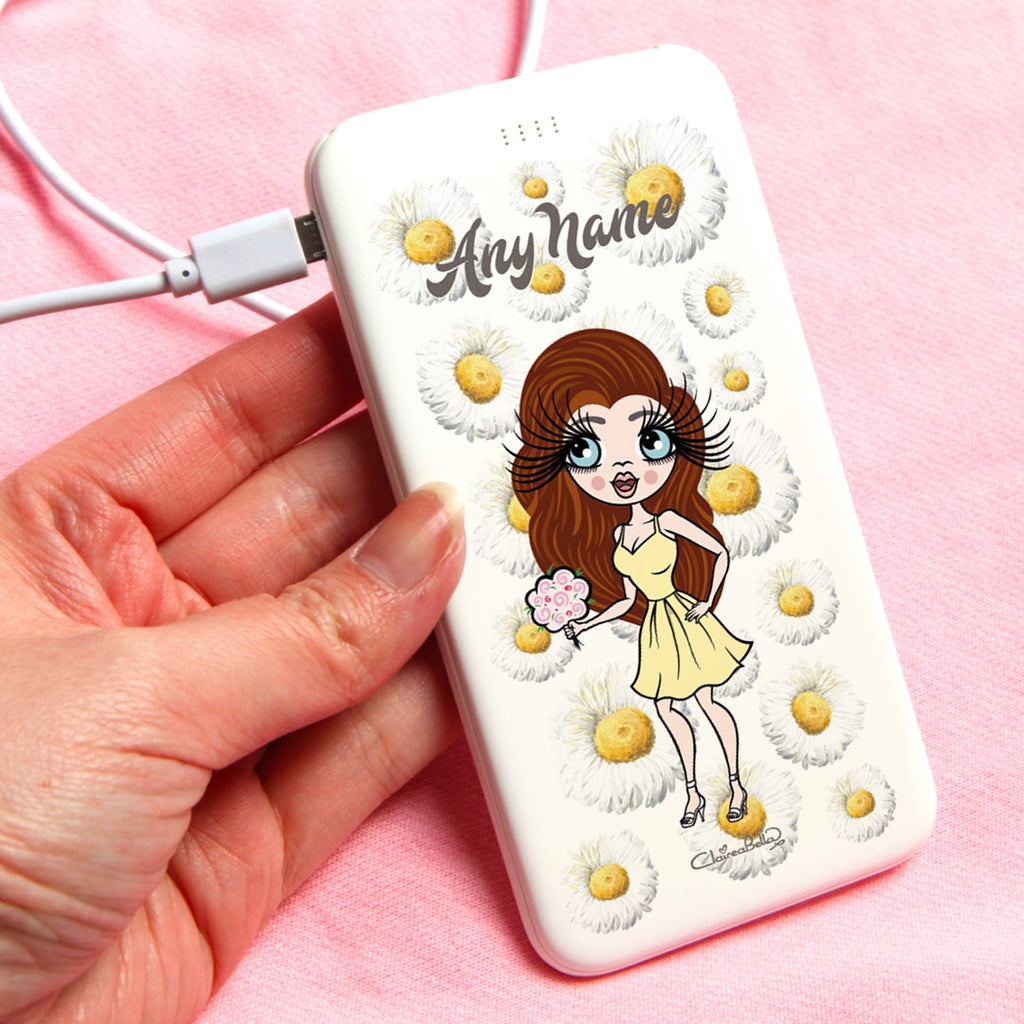 ClaireaBella Daisies Portable Power Bank - Image 1