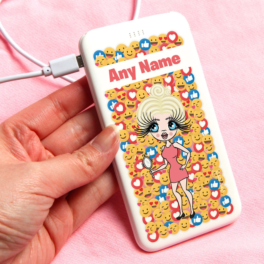ClaireaBella Fun Emoji Portable Power Bank - Image 1