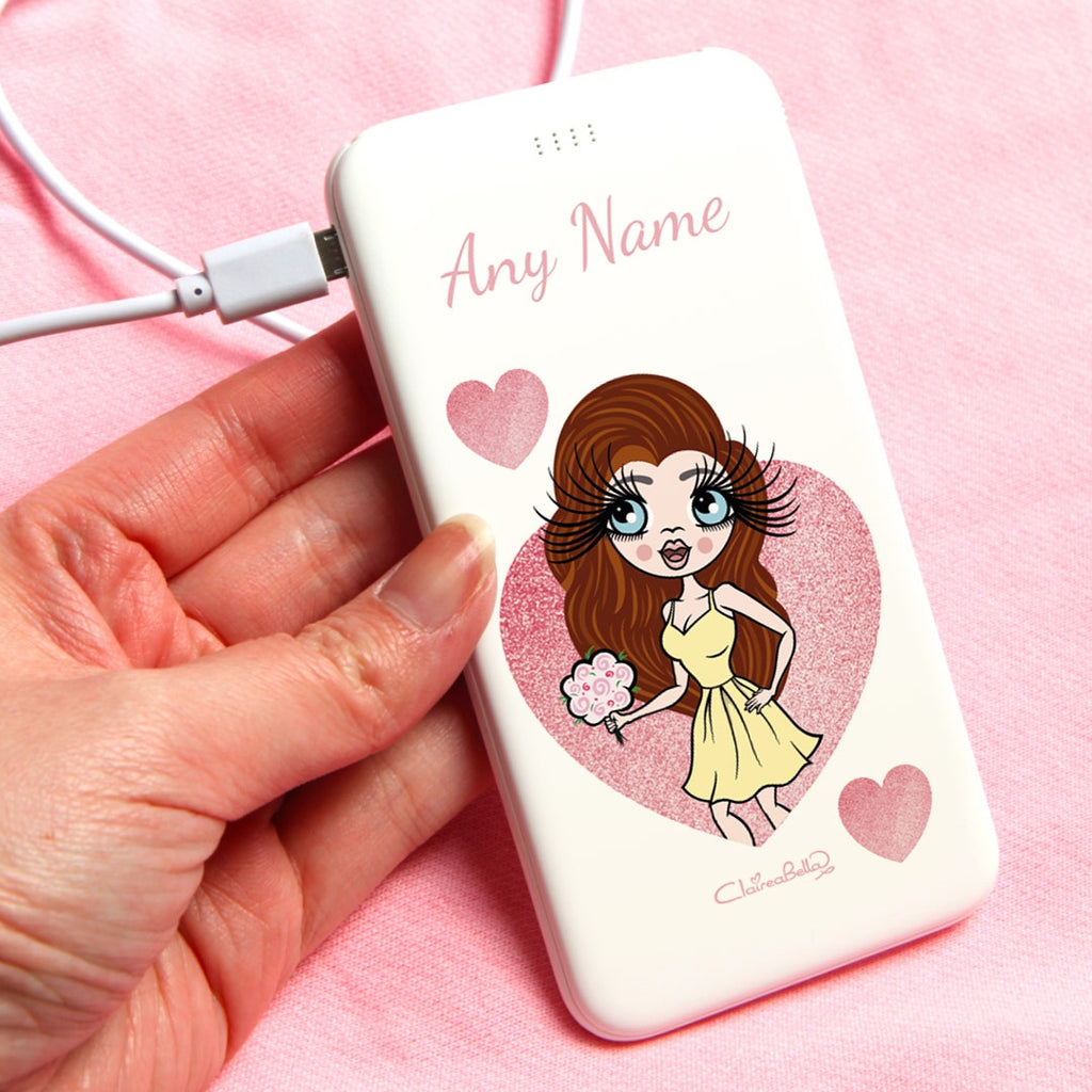 ClaireaBella Glitter Heart Portable Power Bank - Image 1
