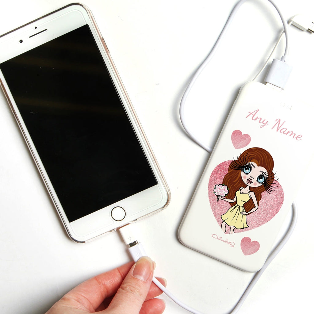 ClaireaBella Glitter Heart Portable Power Bank - Image 3