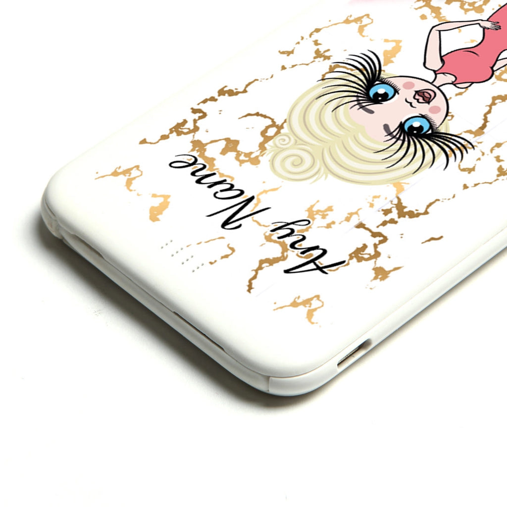 ClaireaBella Gold Marble Portable Power Bank - Image 4