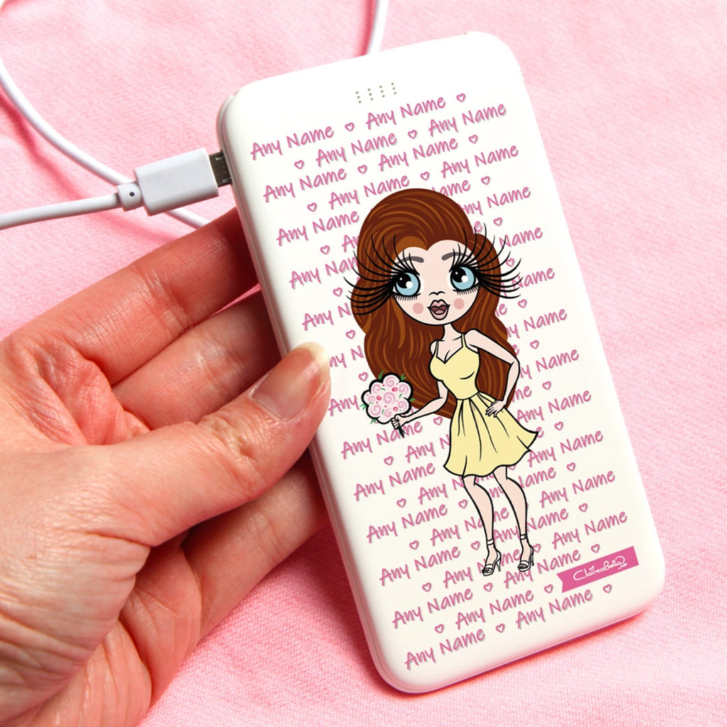 ClaireaBella Typography Portable Power Bank - Image 1