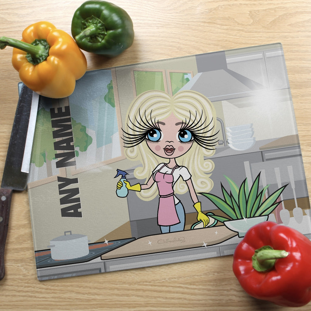 ClaireaBella Landscape Glass Chopping Board - Queen Of Clean - Image 1