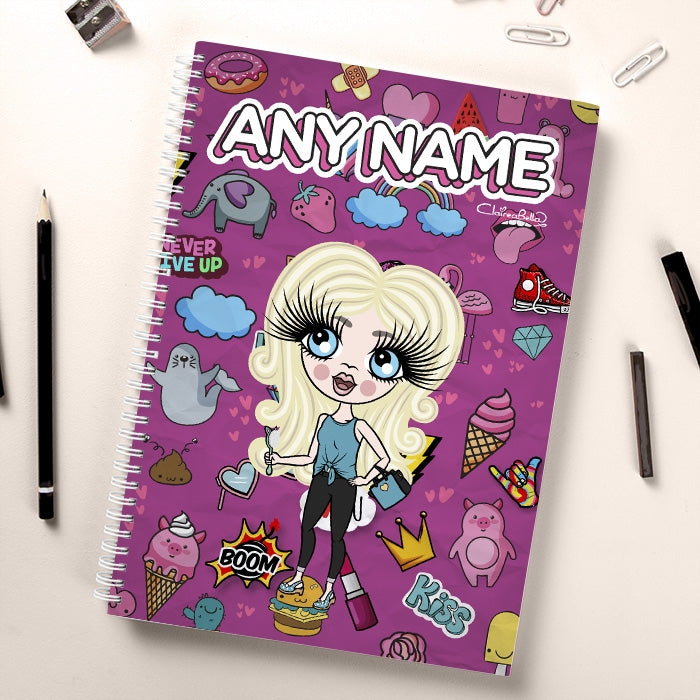 ClaireaBella Girls Stickers Notebook - Image 1