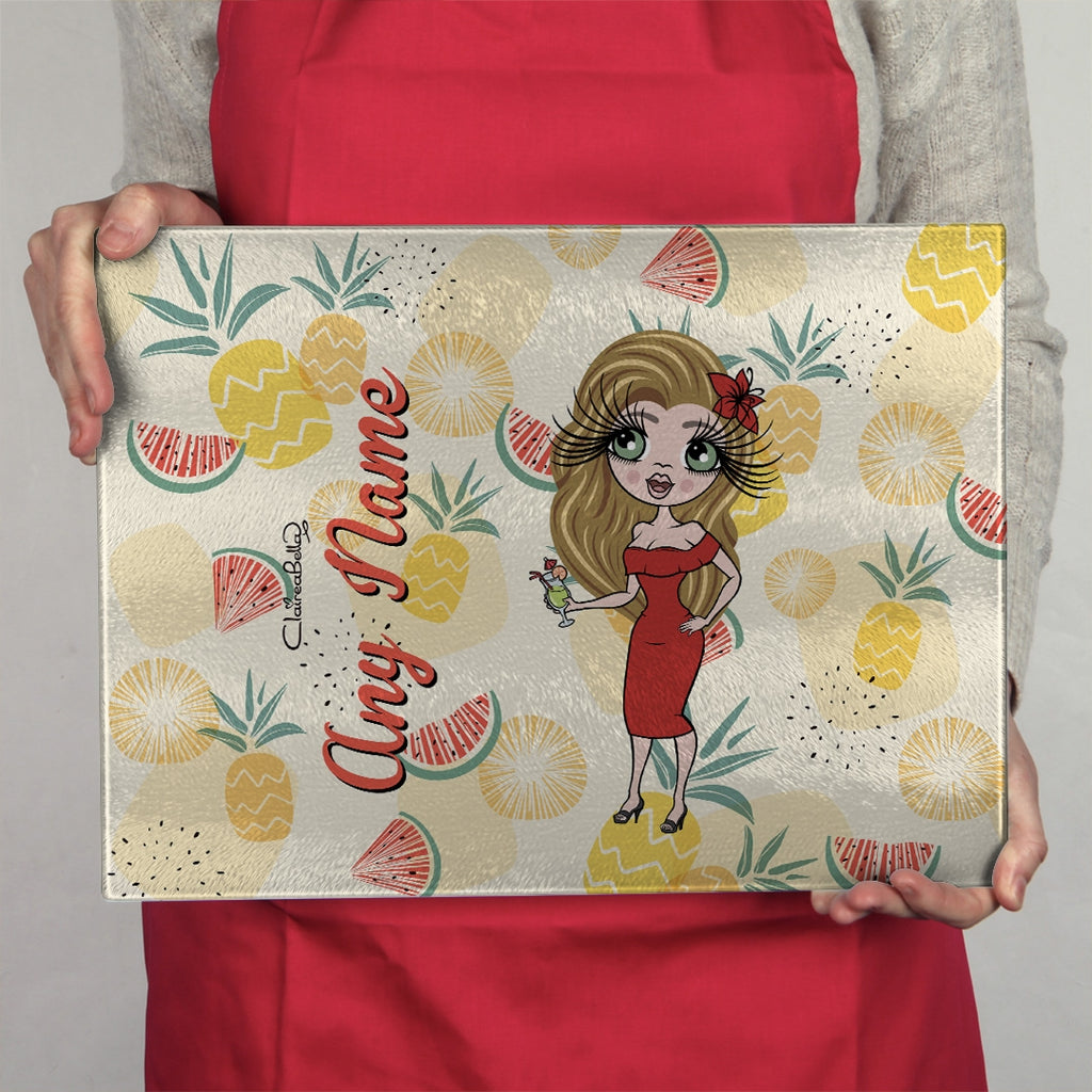 ClaireaBella Landscape Glass Chopping Board - Summer Fruits - Image 1
