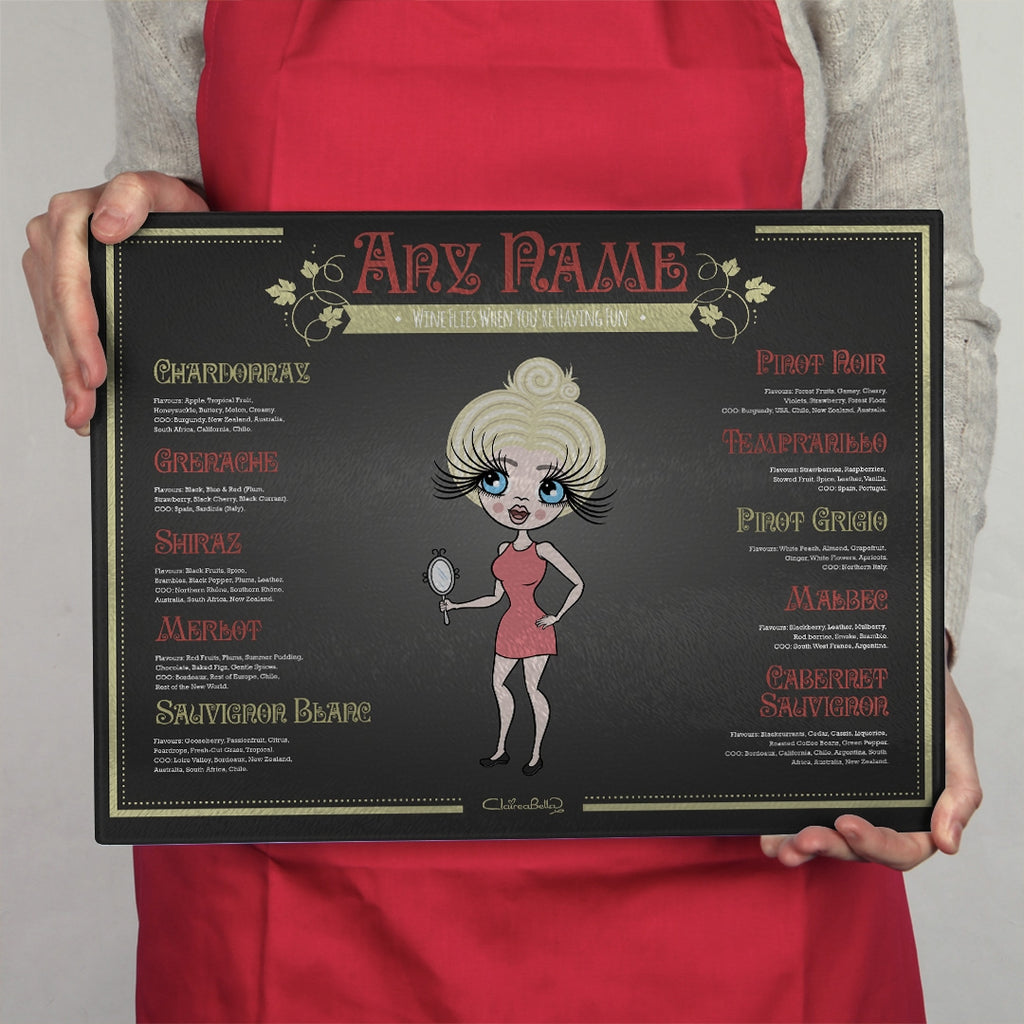 ClaireaBella Landscape Glass Chopping Board - Wine List - Image 2