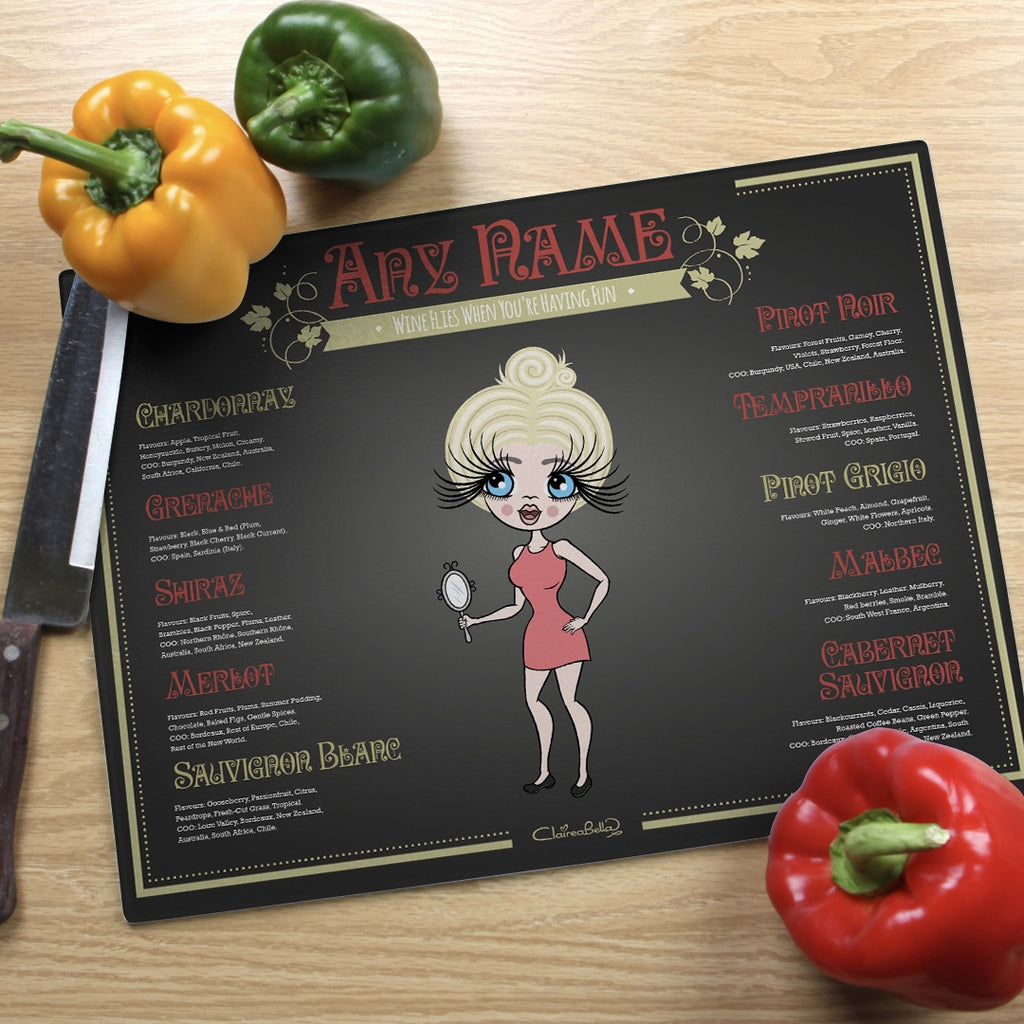ClaireaBella Landscape Glass Chopping Board - Wine List - Image 1