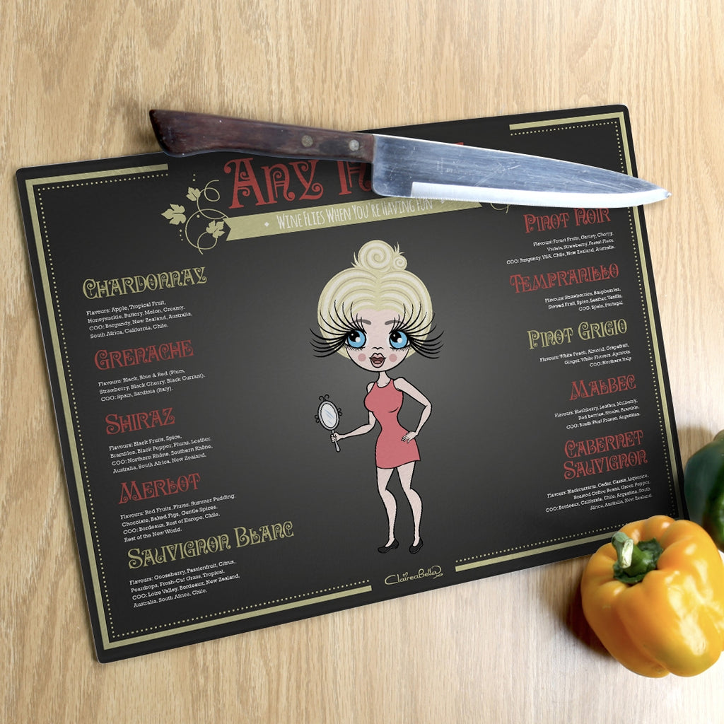 ClaireaBella Landscape Glass Chopping Board - Wine List - Image 4