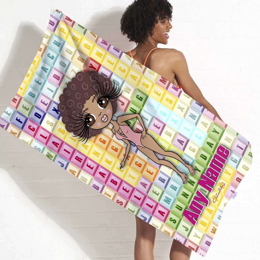 ClaireaBella Word Search Beach Towel - Image 7