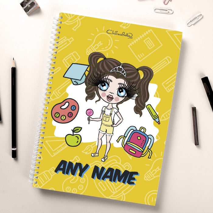 ClaireaBella Girls Essentials Yellow Notebook - Image 2