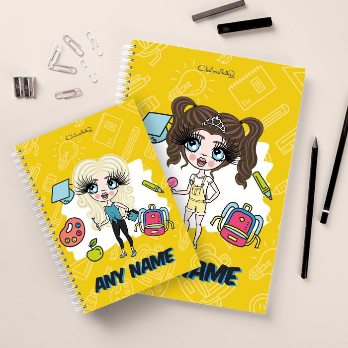 ClaireaBella Girls Essentials Yellow Notebook - Image 3