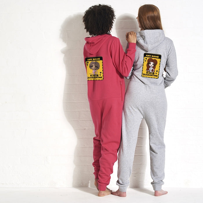 ClaireaBella Adult Be My Quarantine Couples Onesie - Image 3