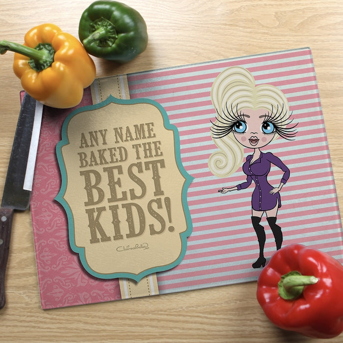 ClaireaBella Glass Chopping Board - Baked Kids - Image 1