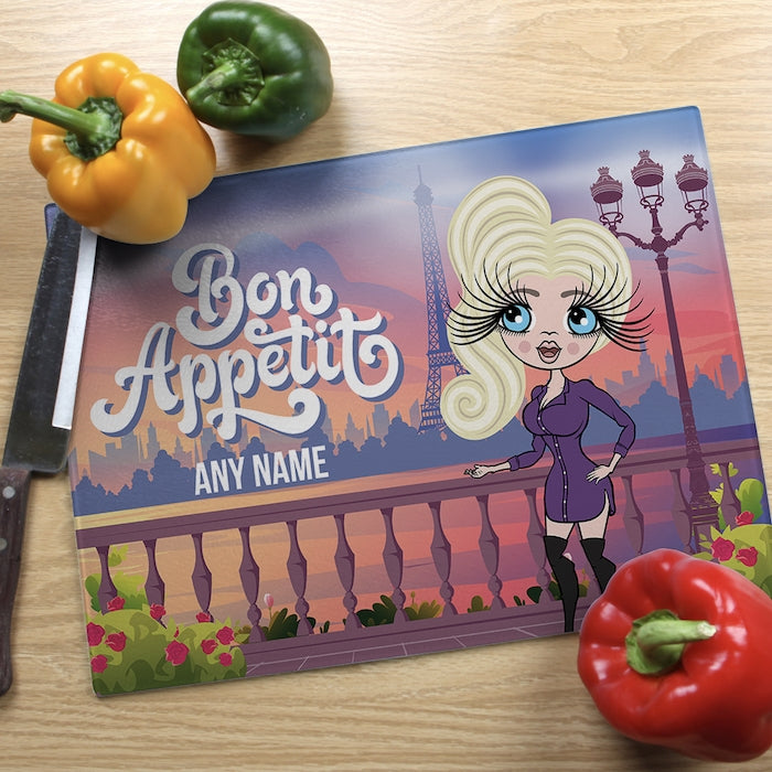 ClaireaBella Glass Chopping Board - Bon Appétit - Image 1
