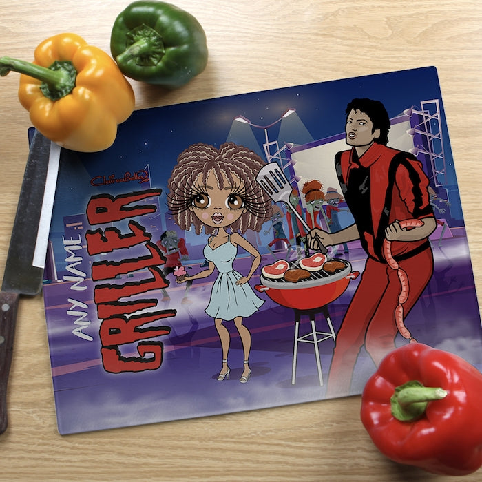 ClaireaBella Glass Chopping Board - Griller - Image 1