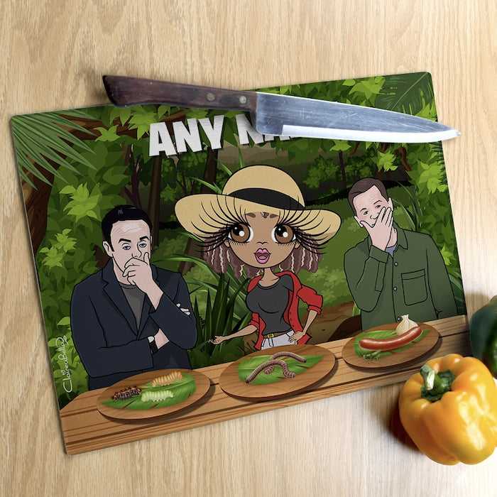 ClaireaBella Glass Chopping Board - Jungle Food Trial - Image 3
