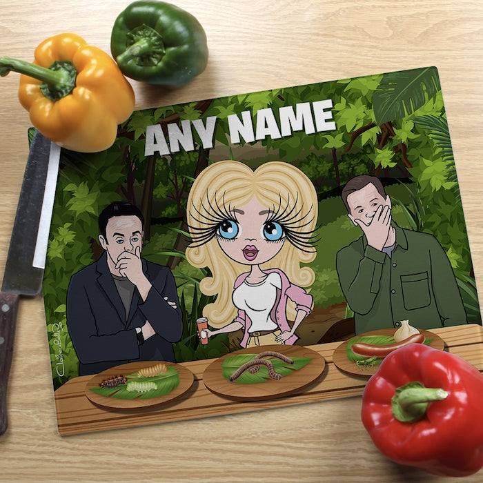 ClaireaBella Glass Chopping Board - Jungle Food Trial - Image 2
