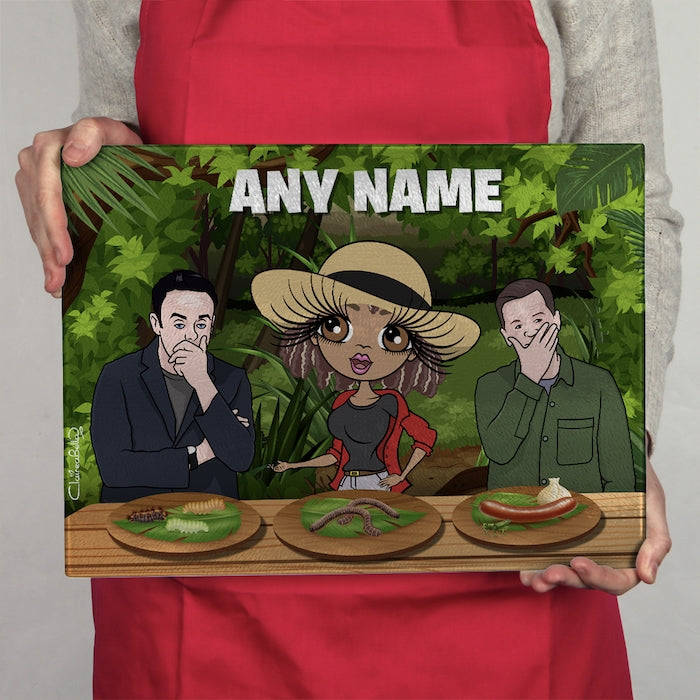 ClaireaBella Glass Chopping Board - Jungle Food Trial - Image 1