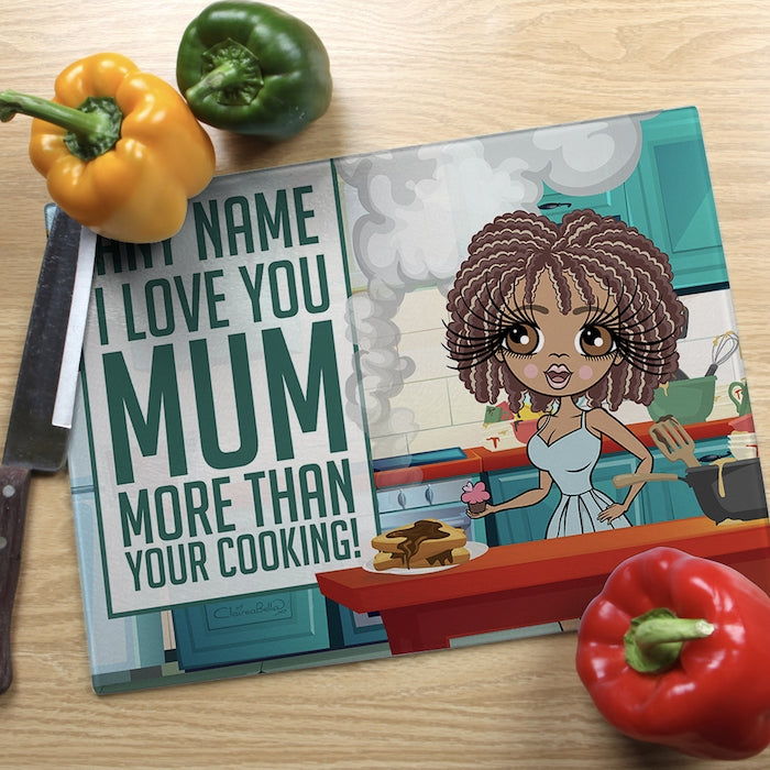 ClaireaBella Glass Chopping Board - Love You Mum - Image 1